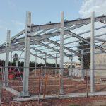 Montaggio struttura metallica